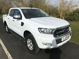 2016 16 FORD RANGER XLT 4X4 2.2TDCI 160BHP WHITE 1 OWNER ANY UK DELIVERY