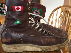 Canada West work boots with Metguard