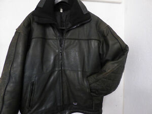 Size Small Black Leather Snowmobile Suit