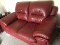 Harvey's 2x2 seater leather sofas