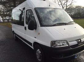 Peugeot boxer lwb mini bus 2.8hdi only 70,000 miles