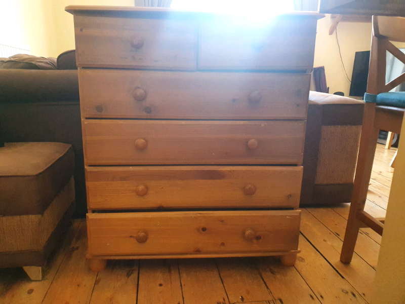 Free 6 drawer chest of drawers pine