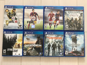AC Unity; Fifa; NHL; Battlefront; Ghost Recon & The Division