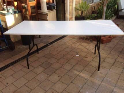White Folding Trestle Table Beckenham Gosnells Area Preview