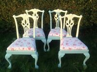 Shabby chic queen Anne dining chairs cath kidston vintage green