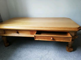 Solid wood cofee table used