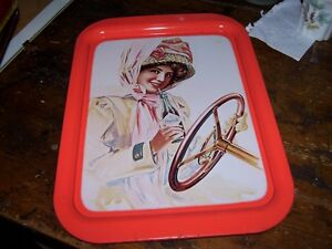 Fashion Lady Driving Car Coca Cola Tray