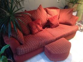2 and 3 seater sofas with sofa bed