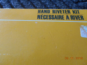 2 hand riveter kits and a case of pot rivets