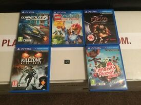 Sony PS Vita 16gb memory card + 5 top games
