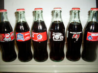 Coca-Cola Sports Related Unopened Glass Bottles 6 Different