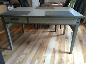 OAK DESK   POSSIBLE 40's  or 50's DOVETAILED DRAWYER