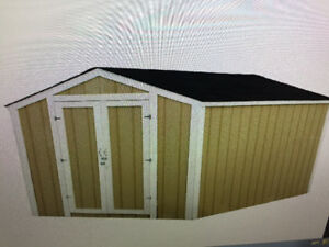 8x10 Shed/ 8x24 deck