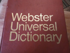 Collector Webster Universal Dictionary