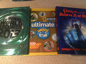 3 Hardcover Large Books -Ripley's, Guinness, Nat Geographic