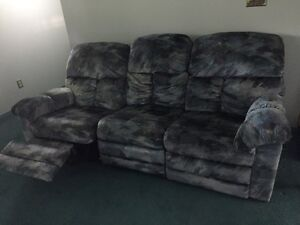 Blue/green couch and chair set