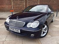 2005 MERCEDES C CLASS DIESEL ++ ALLOYS ++ LEATHER INTERIOR ++ CD ++ MARCH MOT.