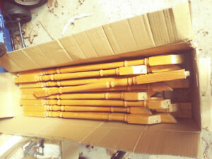 SOLID WOOD stair spindles in great condtion!