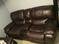 matching brown power recliners!