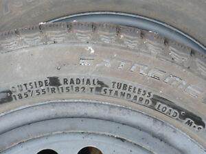 Snow tires and rims. Peterborough Peterborough Area image 5