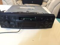 Original mercedes c class model: BE6011 cassette player stereo aux included