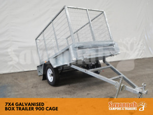 7x4 Galvanised Box Trailer 900mm Cage Edmonton Cairns City Preview