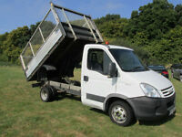 2008 (58) IVECO DAILY 35S14 LWB TIPPER WITH CAGE + JUST 65,000 MILES