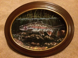 Bradford Exchange Rainbow Trout Collector Plate