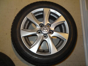 4XMAZDA MAGS 5X114.3 PERFECT CONDITION 205 55 16 TIRES LIKE NEW