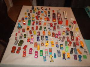 Lot de 116 Voitures Matchbox Hotwheel Majorette Année 60-70.....