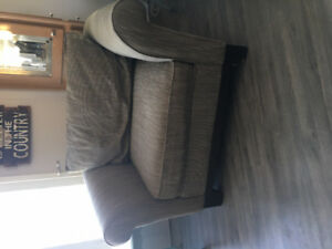 wide  grey chair
