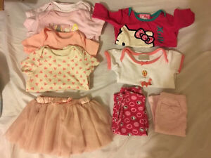 Baby girl clothing lot 0-3 and 3-6m