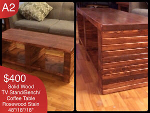 CUSTOM SOLID WOOD COFFEE TABLES AND MORE Kingston Kingston Area image 3