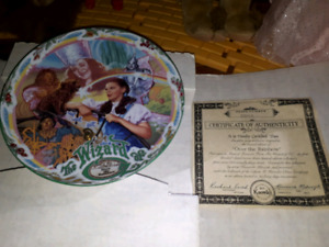 Wizard of oz over the rainbow plate