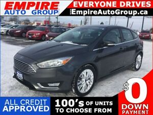 2015 FORD FOCUS TITANIUM * LEATHER * NAV * REAR CAM * SUNROOF *