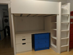 Ikea Stuva - Loft bed with desk, wardrobe, great condition