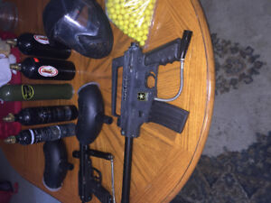 Paintball gun with everything you need