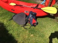 Sit on Kayak, Paddle & Life Jacket for sale. £200 or £250 Bargain !