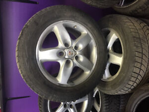 4winter tires with mags 255/55R18 Porsche Cayann