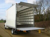 MAN&VAN LARGE LUTON VAN With TAIL LIFT 24/7SHORT NOTIS DELIVERS HOUSE OFFICE FLAT STUDENT REMOVALS