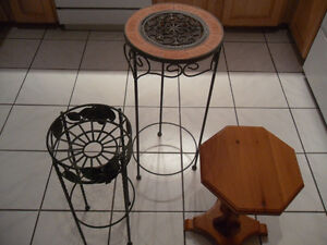 plant stands / tables - 2 for $20