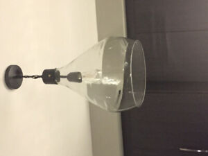Brand New-Large glass pendant light