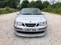 2007 57 SAAB 9-3 2.0 TURBO AERO LOW 83K CABRIOLET FULL LEATHER STUNNER PX SWAPS