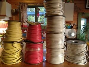 Various spools of electrical wire for sale