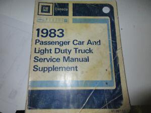 1983 GM CANADA CAR/TRUCK SERVICE MANUAL SUPPLEMENT $15