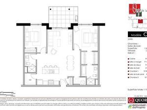 Condo neuf de 2 chambres, 2 salles de bain - avec stationnement West Island Greater Montréal image 8