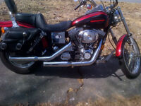 1999 Harley Wide Glide, may take a vehicle in trade up to $2000.
