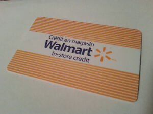 $35+ Walmart gift card, selling for $25