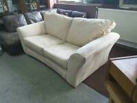 Cream Faux Suede Sofa Bed - Can Deliver For £19
