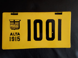 1915 Alberta License Plate Reproduction or Prototype?